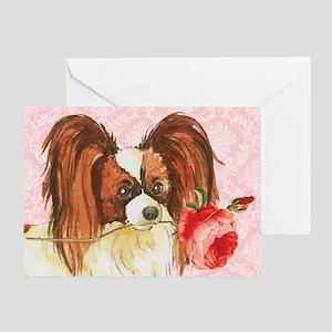 Papillon Rose Greeting Card