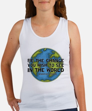 Gandhi - Earth - Change Women's Tank Top