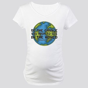 Gandhi - Earth - Change Maternity T-Shirt