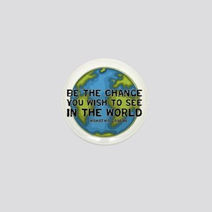 Gandhi - Earth - Change Mini Button