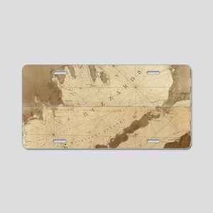 Vintage Map of Buzzards Bay Aluminum License Plate