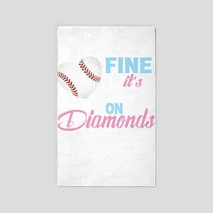 Girls Softball T Shirt, A Game So Fine It Area Rug
