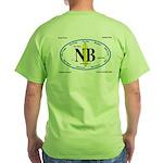 Newport Beach Surf Breaks Green T-Shirt