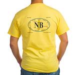 Newport Beach Surf Breaks Yellow T-Shirt
