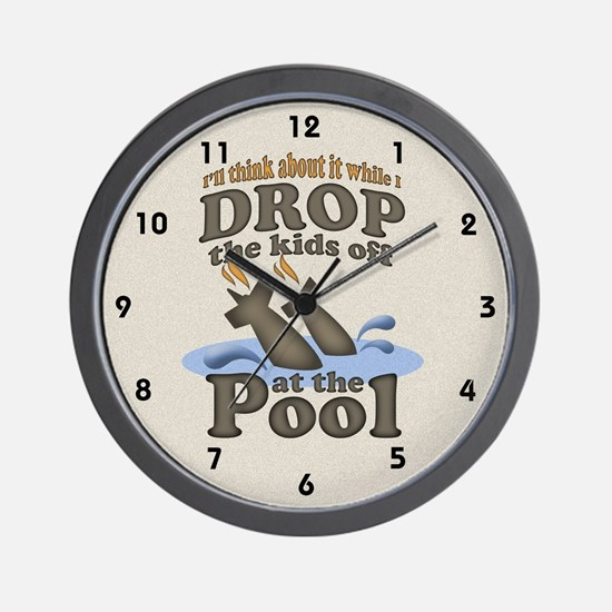 Drop the Kids Off Wall Clock