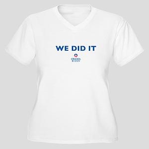 obama Women's Plus Size V-Neck T-Shirt