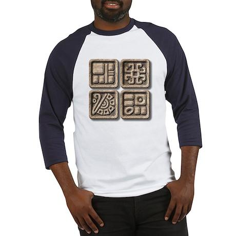 Mayan Glyphs-stone Baseball Jersey
