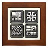 Central america Framed Tiles