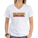 Bail-Out-Athon Women's V-Neck T-Shirt
