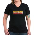 Bail-Out-Athon Women's V-Neck Dark T-Shirt