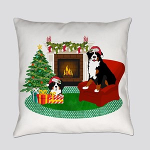 Berners Waiting For Santa Everyday Pillow