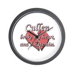 Cullen broke my heart and I hate him Wall Clock
