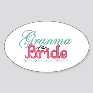 Granma of the Bride Oval Sticker