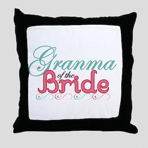 Granma of the Bride Throw Pillow