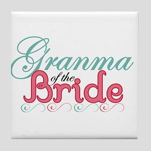 Granma of the Bride Tile Coaster