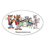 The Jam Cats band photo Oval Sticker