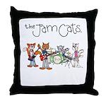 The Jam Cats Throw Pillow