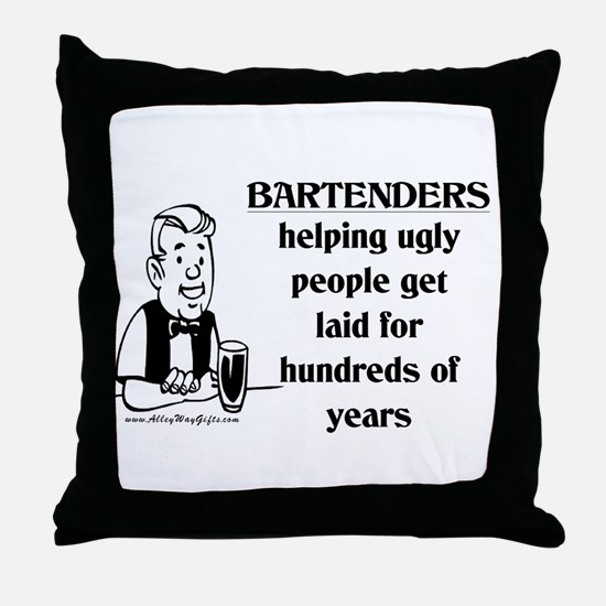 Bartenders Laid Throw Pillow
