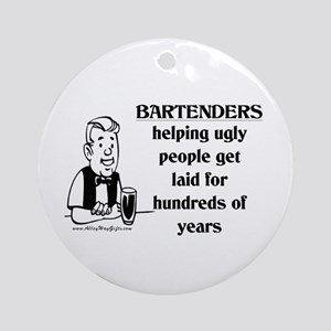 Bartenders Laid Ornament (Round)
