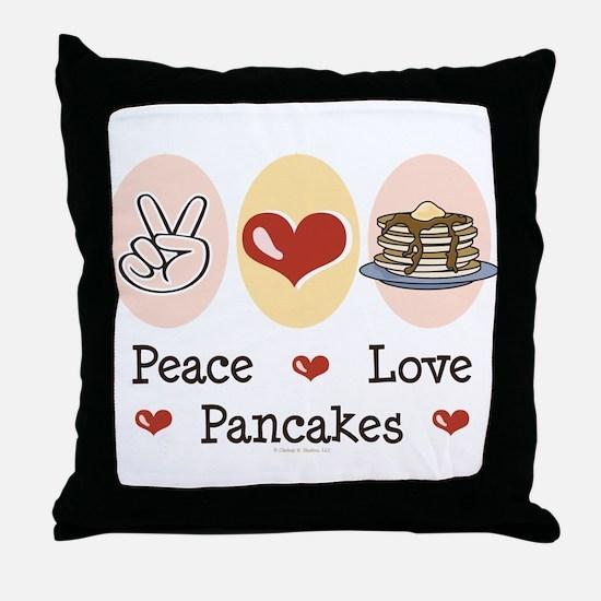 Peace Love Pancakes Throw Pillow