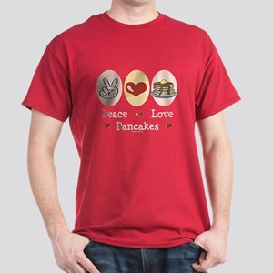 Peace Love Pancakes Dark T-Shirt
