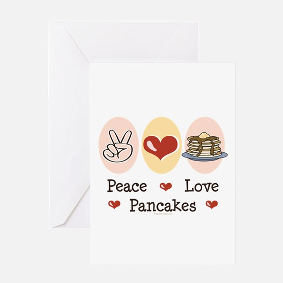 Peace Love Pancakes Greeting Card