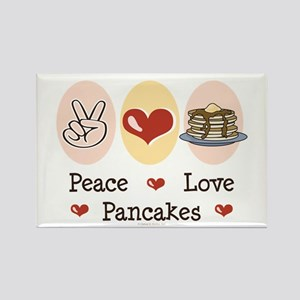 Peace Love Pancakes Rectangle Magnet