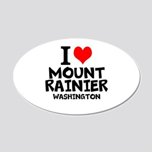I Love Mount Rainier, Washington Wall Decal