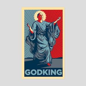 Obama God King Rectangle Sticker