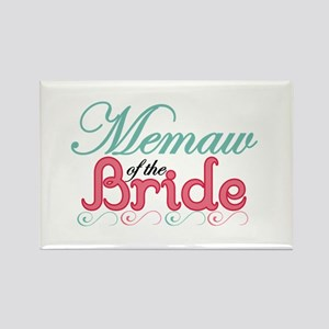 Memaw of the Bride Rectangle Magnet