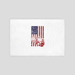 America USA Flag American Truck Divers 4' x 6' Rug