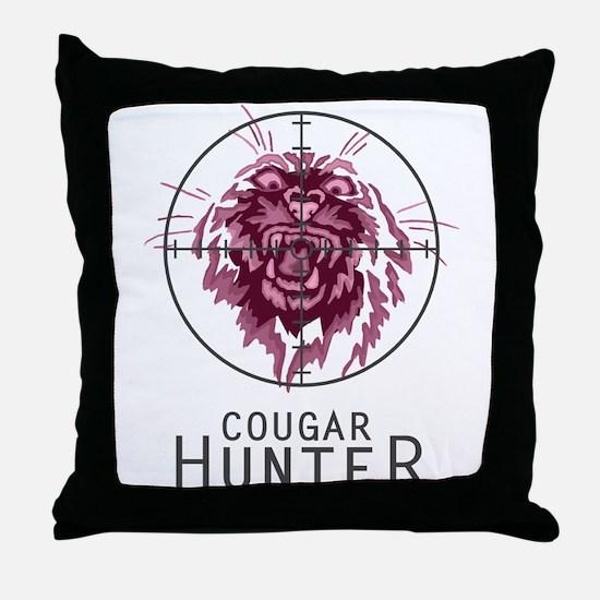 Cougar Hunter -- Throw Pillow