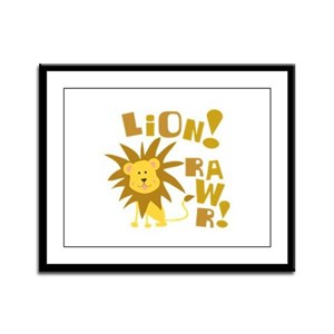 Lion Rawr Framed Panel Print