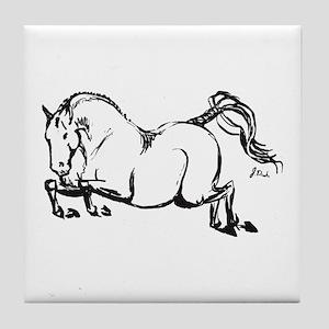 Hunter Jumper Horse Tile Coaster