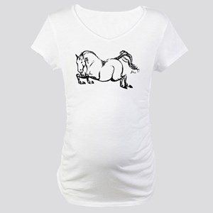 Hunter Jumper Horse Maternity T-Shirt