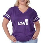 Love Women's Plus Size Football T-Shirt