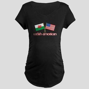 Welsh American Maternity Dark T-Shirt