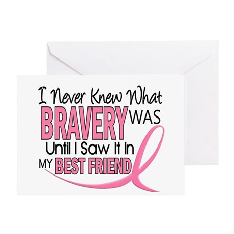 Bravery (Best Friend) Breast Cancer Greeting Card