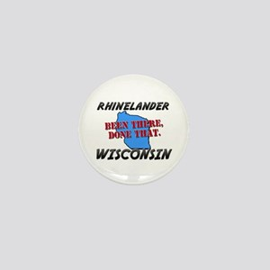 rhinelander wisconsin - been there, done that Mini