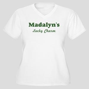 Madalyns Lucky Charm Women's Plus Size V-Neck T-Sh