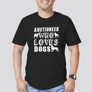 Auctioneer Who Loves D Men's Fitted T-Shirt (dark)