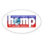 AAA Hemp Oval Sticker (10 pk)
