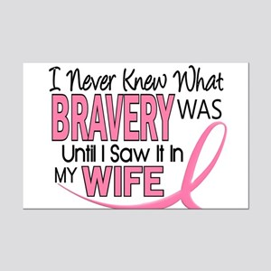 Bravery (Wife) Breast Cancer Support Mini Poster P