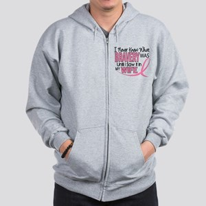 Bravery (Wife) Breast Cancer Support Zip Hoodie