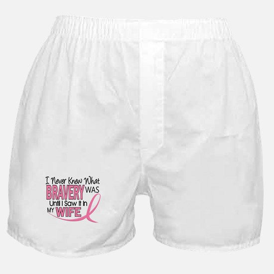 Bravery (Wife) Breast Cancer Support Boxer Shorts