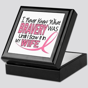 Bravery (Wife) Breast Cancer Support Keepsake Box