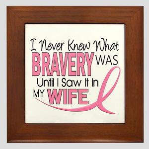 Bravery (Wife) Breast Cancer Support Framed Tile