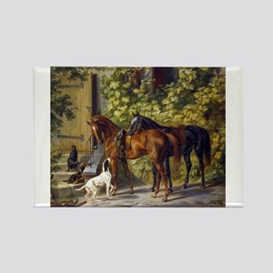 Adam Albrecht - Horses at the Porch Magnets