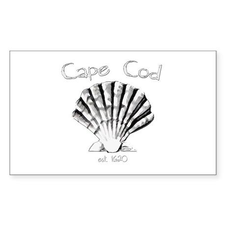 Cape Cod Est.1620 Sticker (Rectangle)