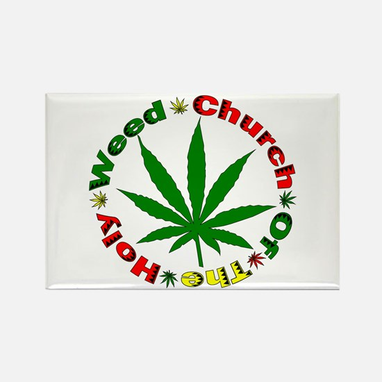 Holy Weed Church Rectangle Magnet
